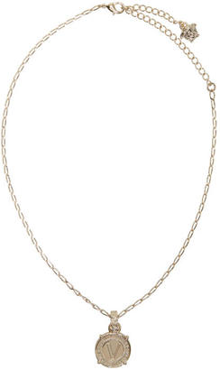 Versace Gold Infinity Medallion Necklace