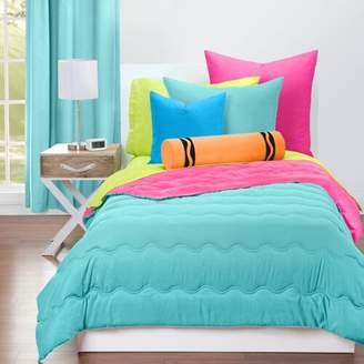 Crayola Turquoise Blue and Hot Magenta Reversible Comforter Set