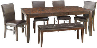 Asstd National Brand Landry 6-pc. Extendable Dining Set with 4 Parsons Chairs and Bench
