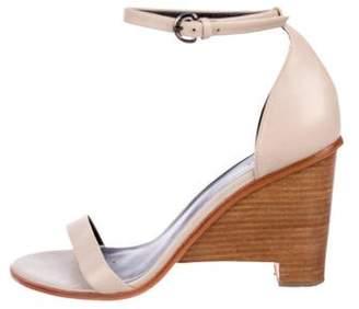 Tibi Leather Wedge Sandals