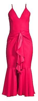 PatBO Women's Bo Ruffle Midi Mermaid Dress - Size 0