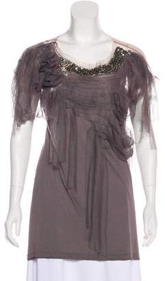 Valentino Embellished Tulle Top