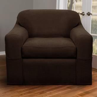Three Posts Box Cushion Armchair Slipcover Set