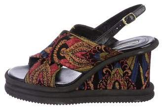 Dries Van Noten Jacquard Platform Sandals