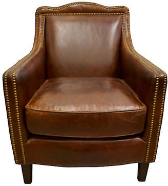 ... One Kings Lane Vintage Tobacco Leather Club Chair