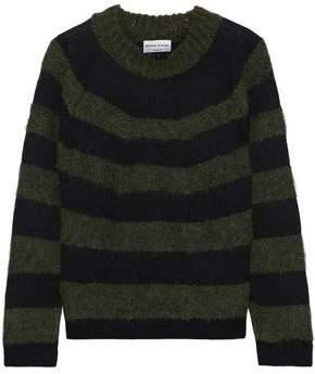 Sonia Rykiel Striped Brushed Intarsia-knit Sweater