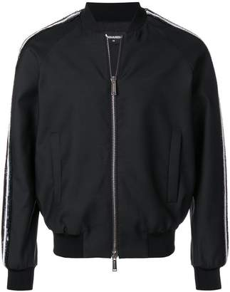 DSQUARED2 sequinned bomber jacket