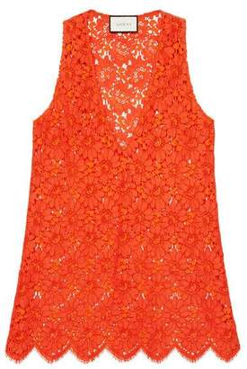 Gucci Flower lace sleeveless top