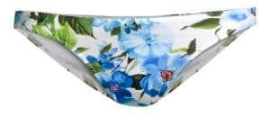 Milly St. Lucia Rose-Print Bikini Bottom
