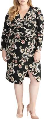 Rachel Roy Floral Faux Wrap Dress