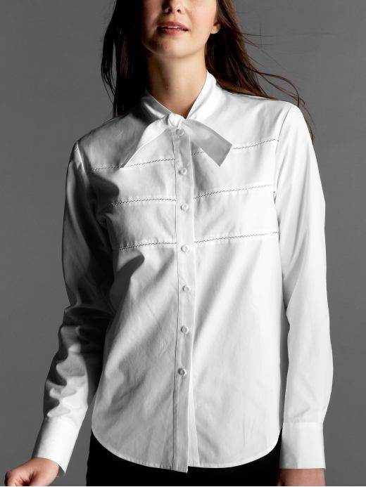 Picot button-front shirt by Phillip Lim