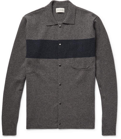 Oliver Spencer Roxwell Striped Wool Cardigan