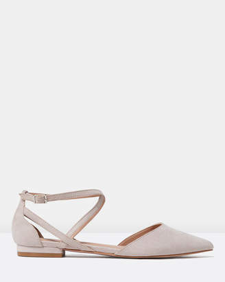 Forever New Ellie Cross Strap Pointed Flats