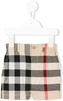 Burberry check chino shorts