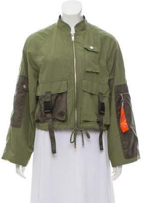 Sjyp Cropped Zip-Up Jacket w/ Tags