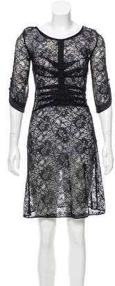 Mayle Semi-Sheer Lace Dress