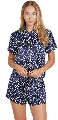 Morgan LANE Martine Silk Bubble Dot Pajama Shorts