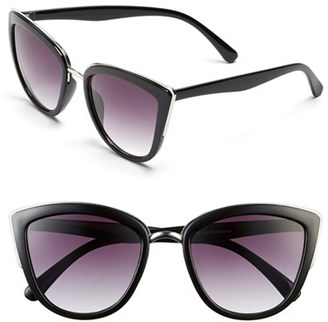 Junior Women's Bp. 55Mm Metal Rim Cat Eye Sunglasses - Black $12 thestylecure.com