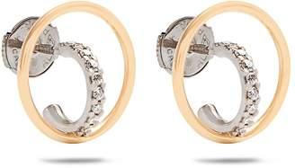 Charlotte Chesnais FINE JEWELLERY Saturn extra-small diamond & gold earrings
