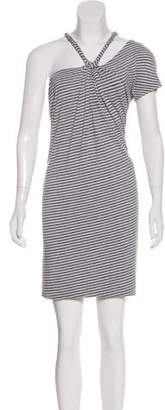 Yigal Azrouel Cut25 by Striped Sleeveless Dress