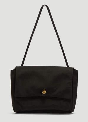 Man Tle Nylon Tote Bag in Black