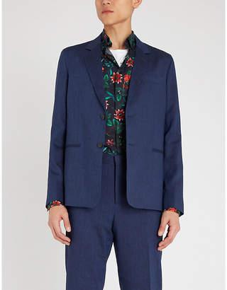 Eton Slim-fit floral-print cotton shirt