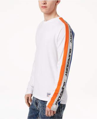 Superdry Men's Trophy Raglan-Sleeve Logo Side Stripe T-Shirt