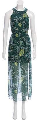 Anna Sui Printed Maxi Dress w/ Tags Green Printed Maxi Dress w/ Tags