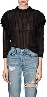 Etoile Isabel Marant Women's Anny Embroidered Cotton Blouse - Black
