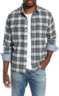 Jeremiah Knoxville Regular Fit Herringbone Plaid Flannel Shirt