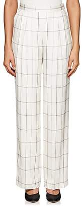 The Row Women's Wendel Checked Silk Tapered Pants