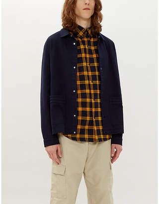Billionaire Boys Club Helmet-print checked cotton shirt