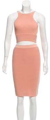 Jonathan Simkhai Rib Knit Two-Piece Skirt Set