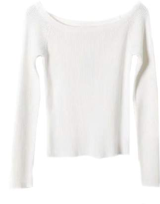 Goodnight Macaroon 'Amber' Ribbed Knit Off The Shoulder Top (5 Colors)