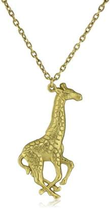 Yochi Plated Giraffe Necklace