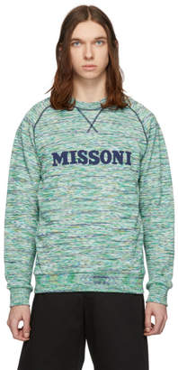 Missoni Green and Blue Striped Sweatshirt