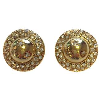 Celine Gold Metal Earrings