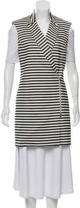 Veronica Beard Longline Striped Vest