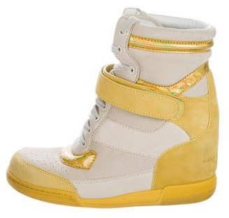 Marc by Marc Jacobs Leather High-Top Sneakers $65 thestylecure.com