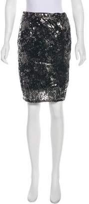 Lela Rose Knee-Length Leather Skirt