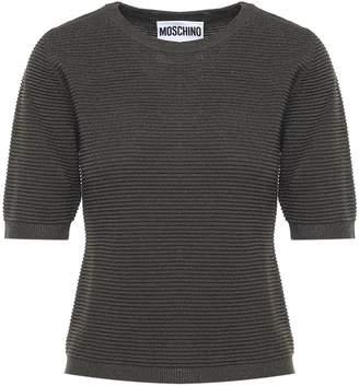Moschino Ribbed-knit Lurex T-shirt
