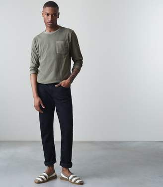 Reiss ORDER BY MIDNIGHT DEC 15TH FOR CHRISTMAS DELIVERY BERTIE LS LONG SLEEVED GARMENT DYED T-SHIRT Green