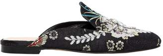 Strategia 10mm Embellished Floral Jacquard Mules