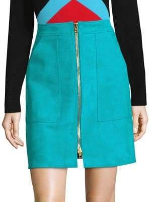 Diane von Furstenberg Patch Pocket Mini Skirt
