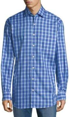Peter Millar Plaid Cotton Button-Down Shirt