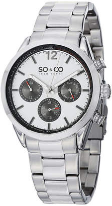 Co SO & NY Mens Monticello Stainless Steel Bracelet Sport Quartz Watch J151P50