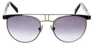 Balmain Round Gradient Sunglasses