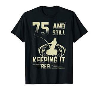 Mens Fishing Shirt 75th Birthday Fisherman Gift 75 Years Old