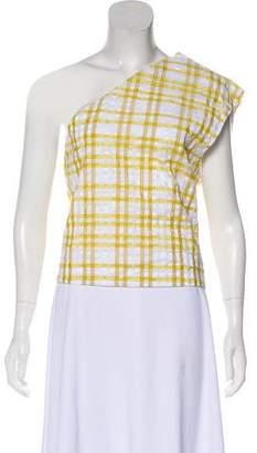 Rosie Assoulin Sleeveless Plaid Top