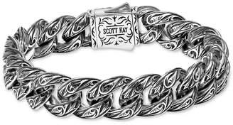 Scott Kay Men Sparta Medium Link Bracelet in Sterling Silver & 18k Gold